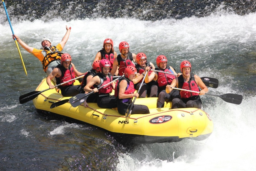 Rafting on the Brenta river