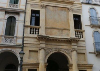 Casa Cogollo by Andrea Palladio, palace in the historical center of Vicenza listed in unesco world heritage.