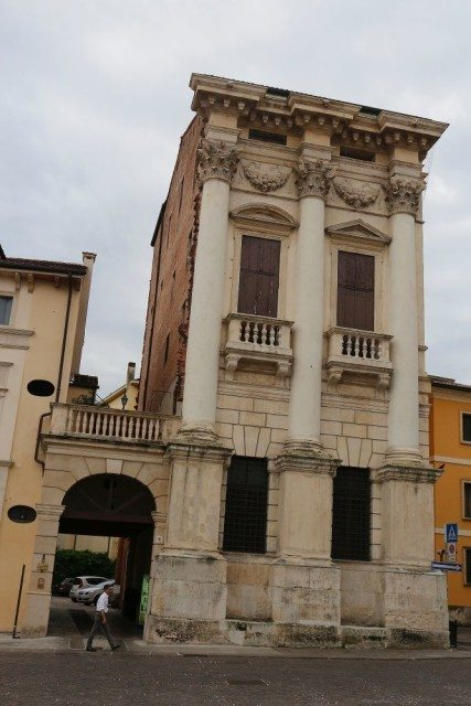 Porto Breganze palace by Andrea Palladio in the historical center of Vicenza. City tour with Sightseeing in Italy