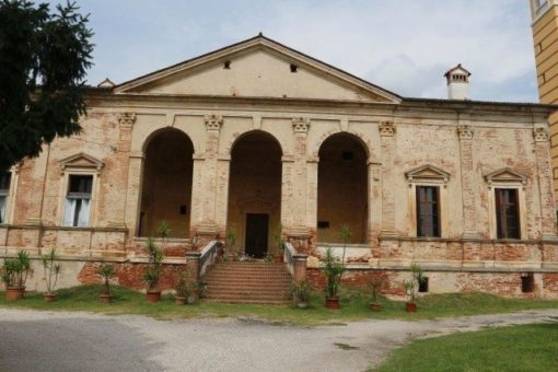 Villa Gazzotti Marcello Curti by andrea palladio in the province of vicenza, listed in the unesco world heritage.