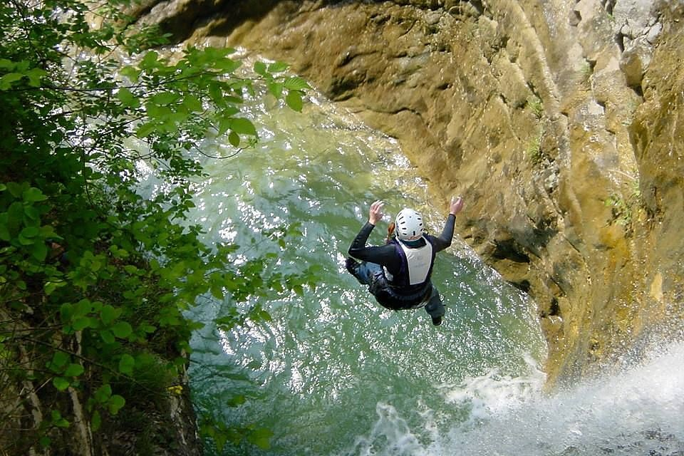 Canyoning Dolomite mountains