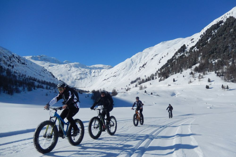 Fat bikes tour Dolomite mountains
