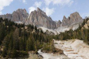 Cristallo Dolomite mountains close cortina d'ampezzo. Ideal for hiking, ferrata, guided excursion. ski resort, unesco site