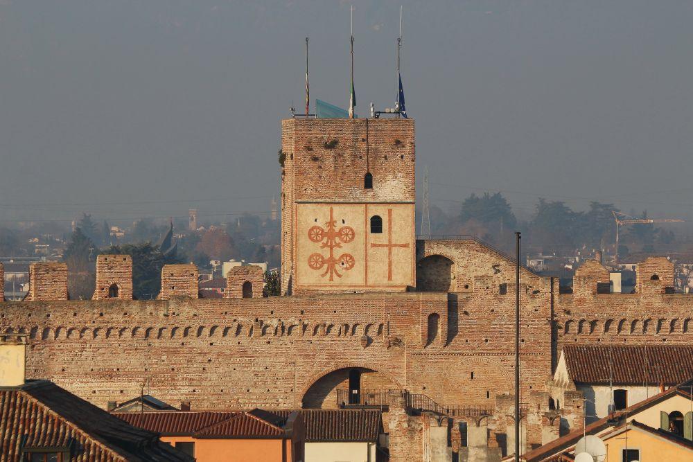 Cittadella, la maison du capitaine, une ville médiévale fortifiée entre Padoue et Bassano