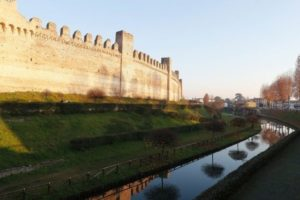 Cittadella moat, fortification of a walled town of the middle ages. A medieval site located between Padua and Bassano