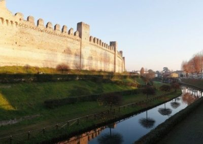 Moat of the medieval wall