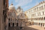 Doges Palace Venice with works by Andrea Palladio in some of the representation rooms on the piano nobile destroyed by fire