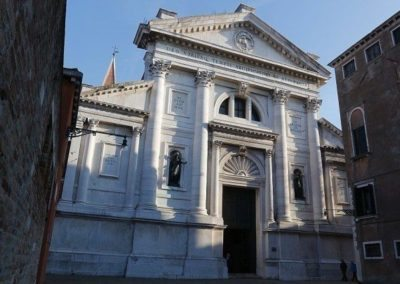 San Francesco della Vigna in Venice is located in Campo San Francesco della Vigna, in the Castello district, off the normal tourist routes. The facade is a work of Palladio