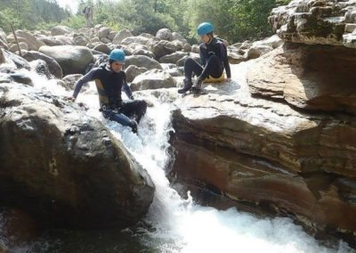 Easy canyoning outdoor activity