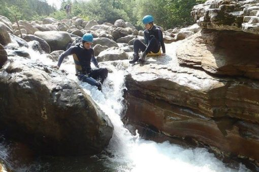 Easy canyoning outdoor activity Italy
