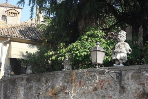 grotesque statues of a five- seven century Villa Nani-Mocenigo in Monselice, southern area of the Euganean Hills