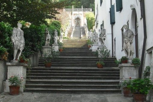 staircase villa Nani Mocenigo, a five- seven century building in Monselice, province of Padua, Italy
