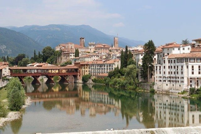 Bassano del Grappa during a day tour along the foothills of the Prealps