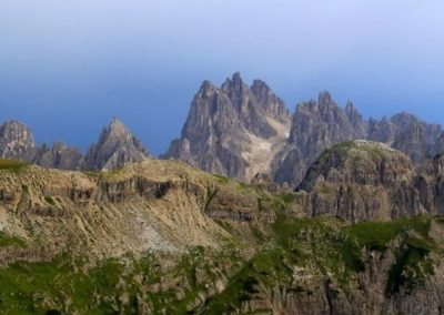 Cadini group Dolomite mountains