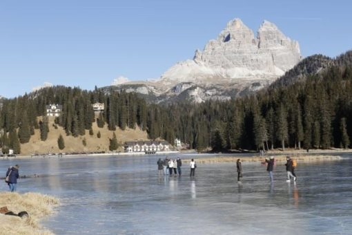 Frozen lake Misurina