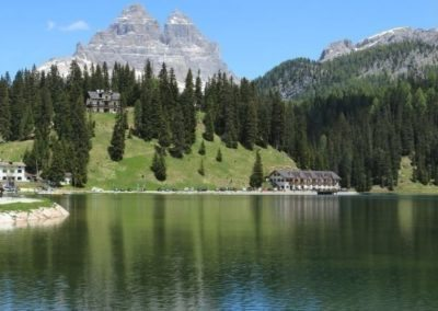 Misurina lake Dolomite mountains