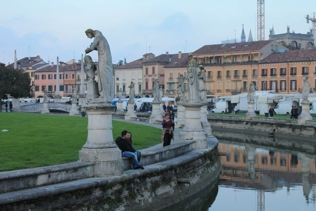Padua Prato della Valle, one of the art cities of the Veneto region, northern italy