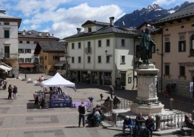 Pieve di Cadore main square Dolomite mountains