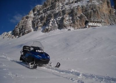 Snowmobile Dolomite Mountains