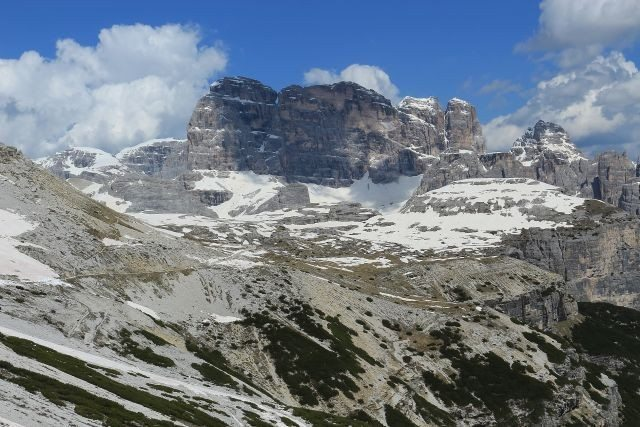 View from 3 picks of Lavaredo, dolomite mountains day tour Italy