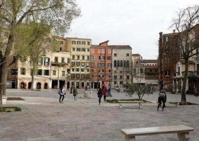 Campo de Ghetto Novo Cannaregio, Venice island Italy