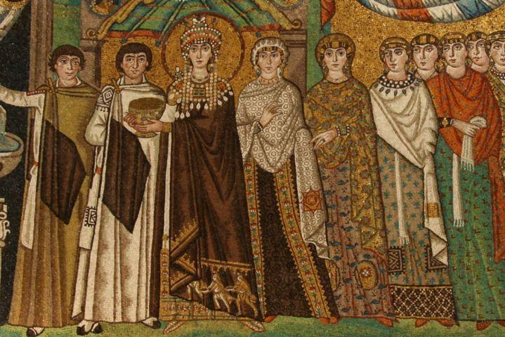 Ravenne, les mosaïques dans l'église de Saint Vital, Émilie Romagne, Italie