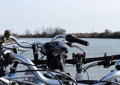 Bicycles in the venetian lagoon, cycle routes day excursion along paths following sile river, brenta river, piave river, guided sightseeing tour