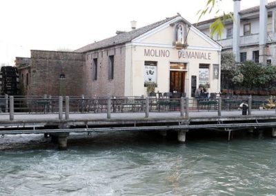 Mill along Brenta canal in Dolo, between venice and padua, to visit during day excursion. famous for venetian villas, reach by bike, boat, car