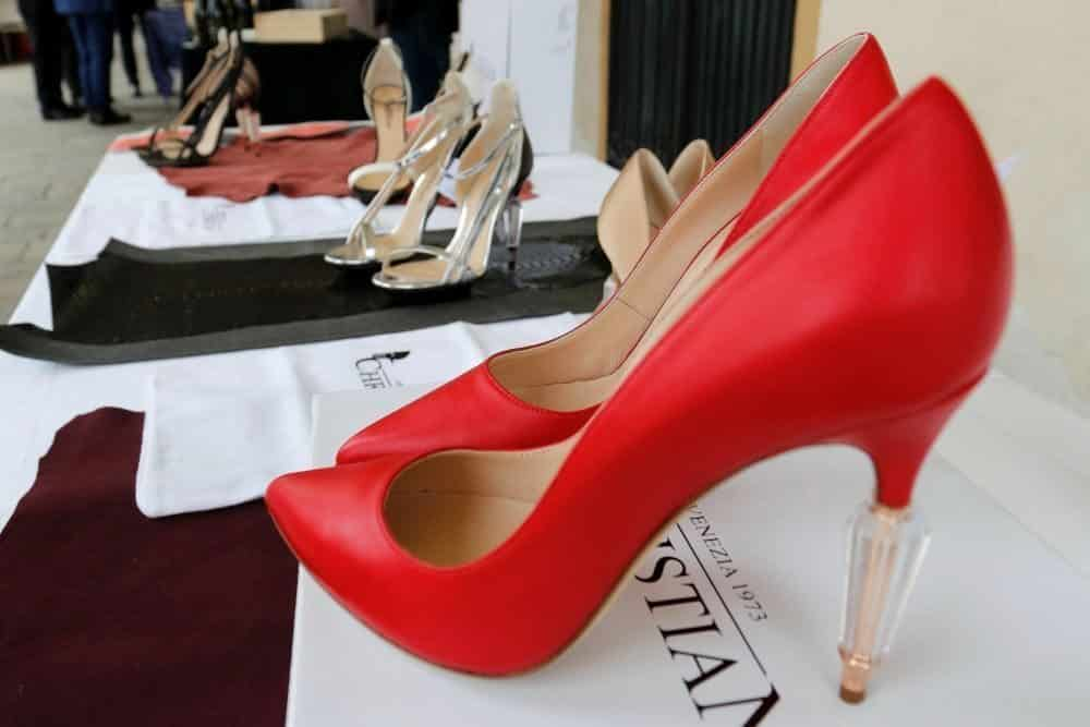 Red fashion shoes italy