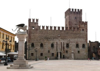 Medieval lower castle Marostica, ruled during the middle ages by the scaligers, lords of Verona
