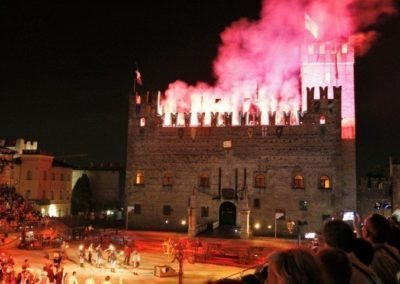 Lower castle Marostica firework