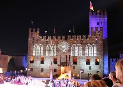 Lower castle Marostica during the show