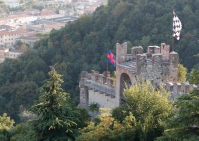 Marostica wall form the upper castle