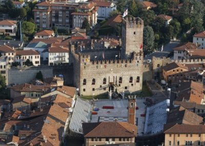View of the lower Castle of Marostica, built by the Scaligers seigneuries of Verona