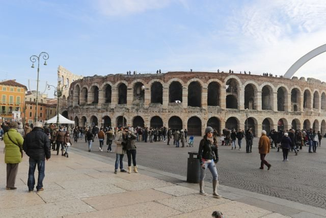 Roman amphitheater Verona opera season. the second most important art center in the Veneto region after Venice