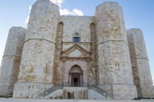 Middle Ages, Castel Del Monte castle Frederick II Apulia. middle Ages site on a hill in Andria, a Unesco World Heritage to visit during a day excursion with professional driver