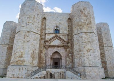 Castel Del Monte castle Frederick II Apulia. middle Ages site on a hill in Andria, a Unesco World Heritage to visit during a day excursion with professional driver