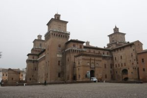 Este castle Ferrara medieval walled town, city in the Unesco world heritage list, Emilia Romagna region, along the Po river. To visit during a day excursion with professional driver and guide
