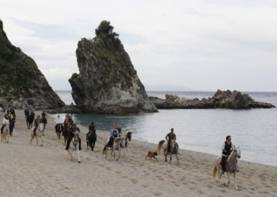 Horse ride Tyrrhenian coast Calabria nature excursion, for an outdoor activity, with Sightseeing in Italy