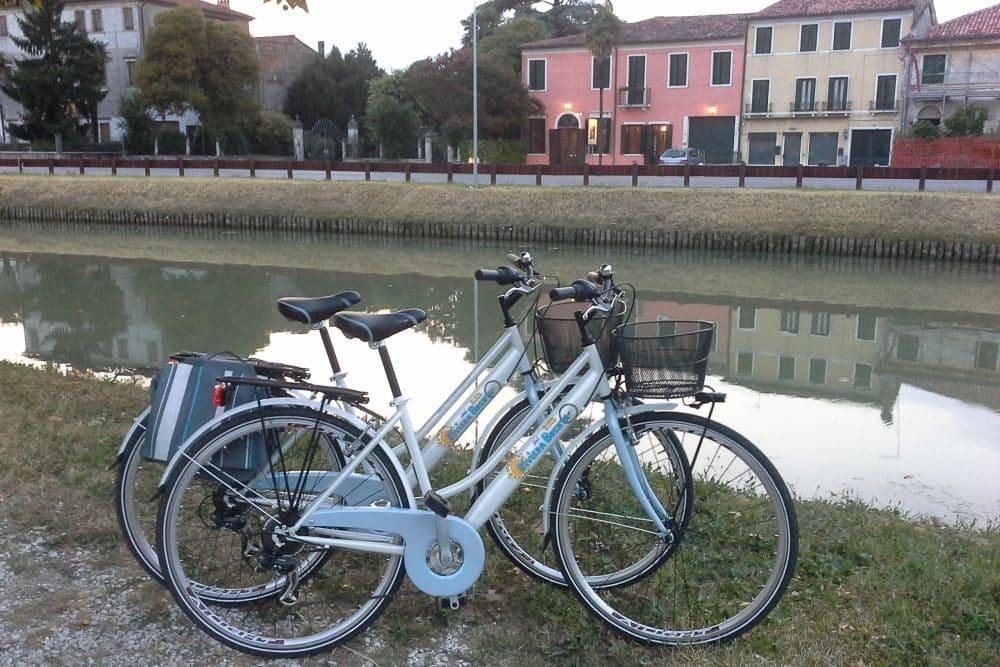 Parcours à vélo randonnée guidée de la journée canal de la Brenta