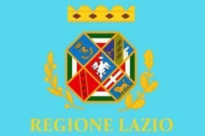 Flag Latium region Italy
