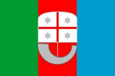 Flag Liguria region Italy
