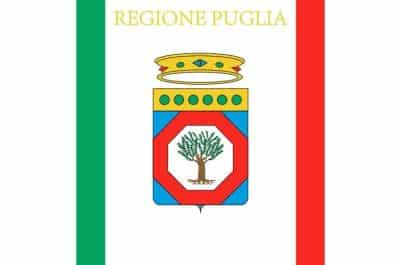 Flag Apulia region Italy