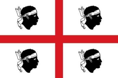Flag Sardinia region Italy