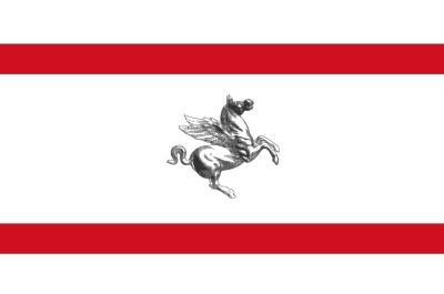 Drapeau région Toscane Italie