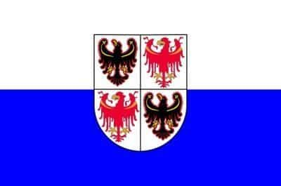 Flag Trentino Alto Adige region Italy