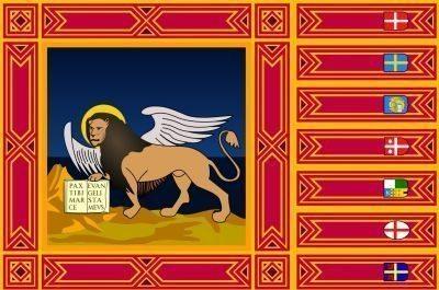 Flag Veneto region Italy