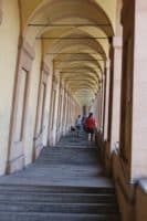 Steps portico sanctuary San Luca walking tour Bologna, day excursion with sightseeing italy