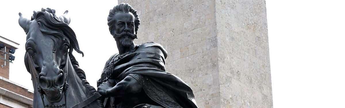 Plaisance domaine des Farnèse, statue équestre de Alexandre Farnèse visite guidée