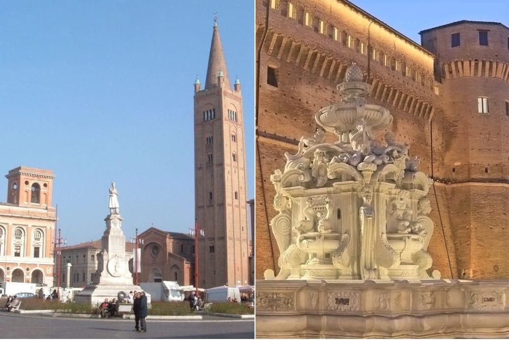 Forlì Césène au sud de la voie émilienne en Romagne, Italie